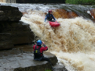 Kayak on Lower Kisdon Force Falls