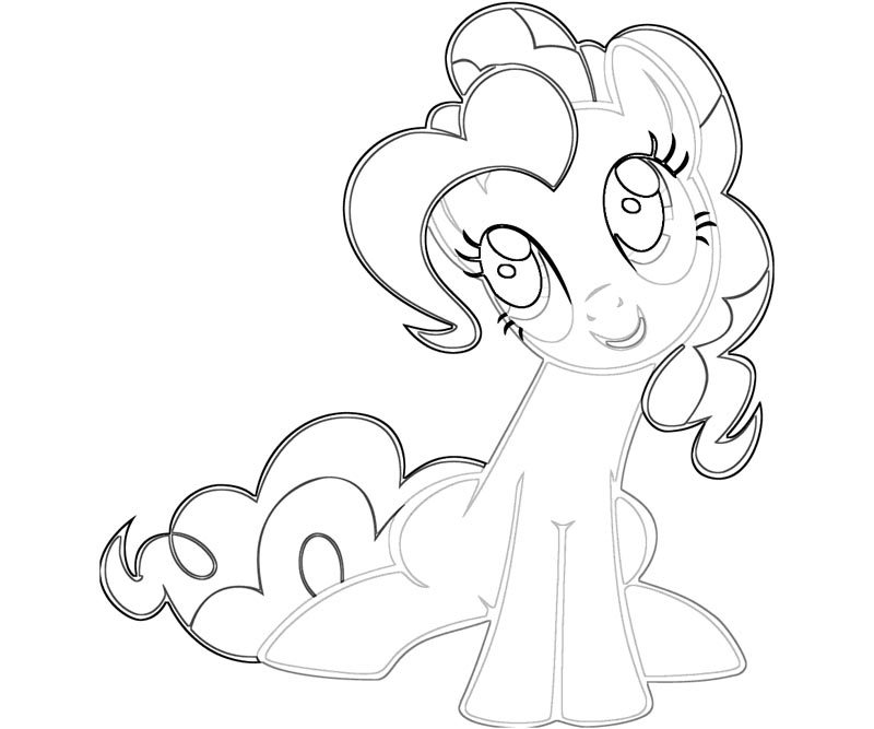 Coloring Pages of My Little Pony Equestria Girls Rainbow  - pinkie pie coloring pages