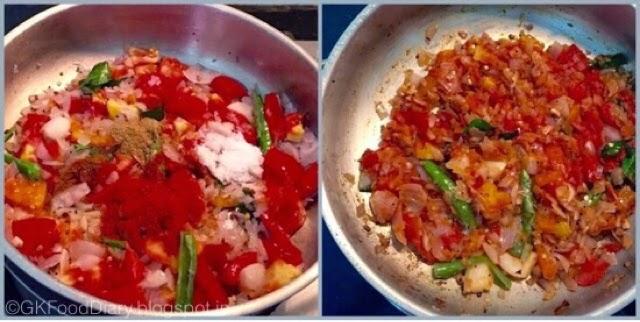Onion Tomato Gravy Recipe | Side dish For Chapati/Roti 5