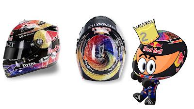 шлем Себастьяна Феттеля для Гран-при Абу-Даби 2011 Los MiniDrivers
