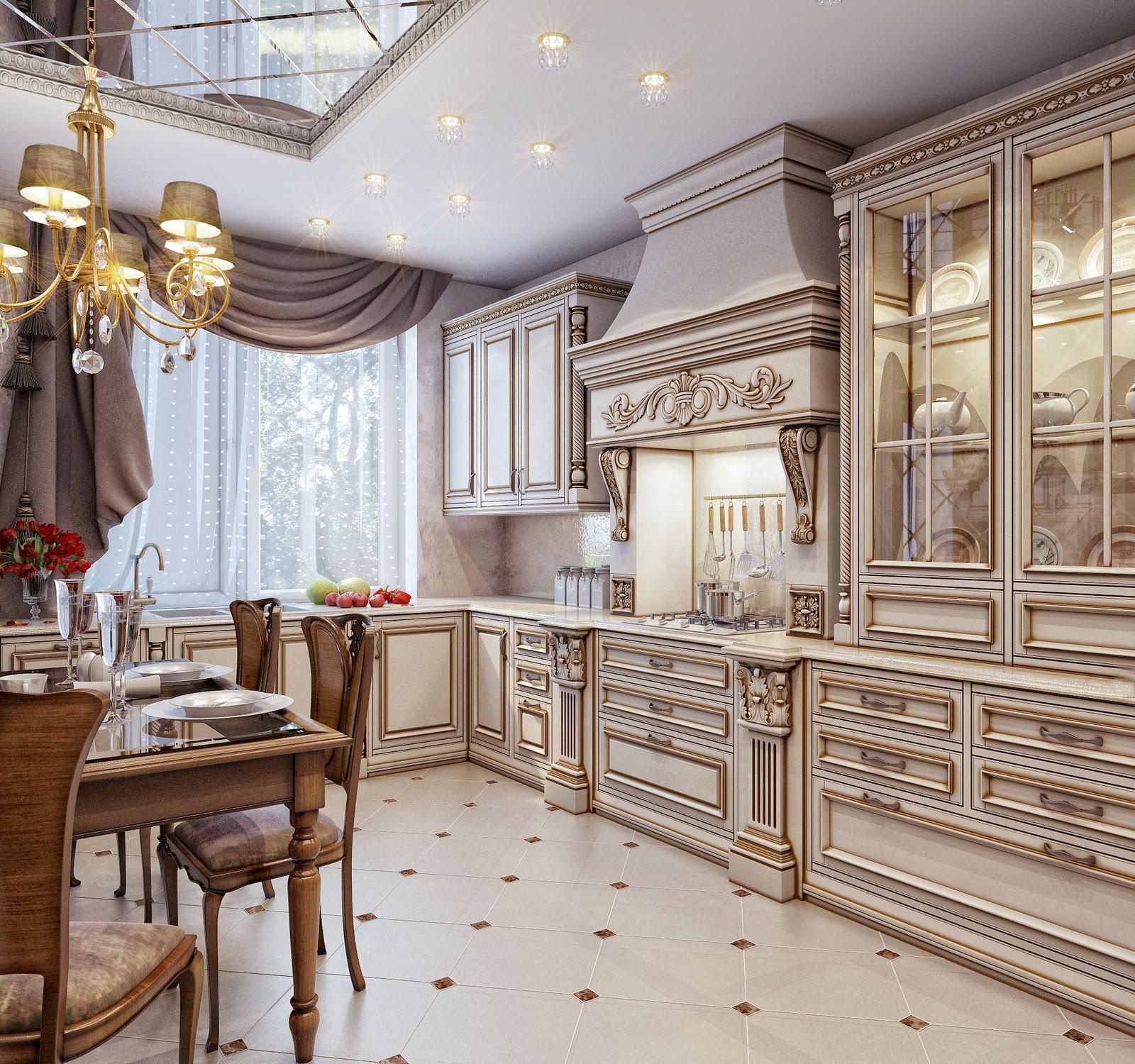 Дизайн классического интерьера кухни