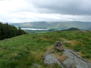 Little Medrum Summit with Ullswater in the distance.
