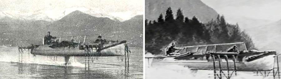 Hydrofoil Boat History Left Hydrofoil Boat 1910