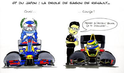 контрастный сезон для Renault - комикс Quentin Guibert после Гран-при Кореи 2011