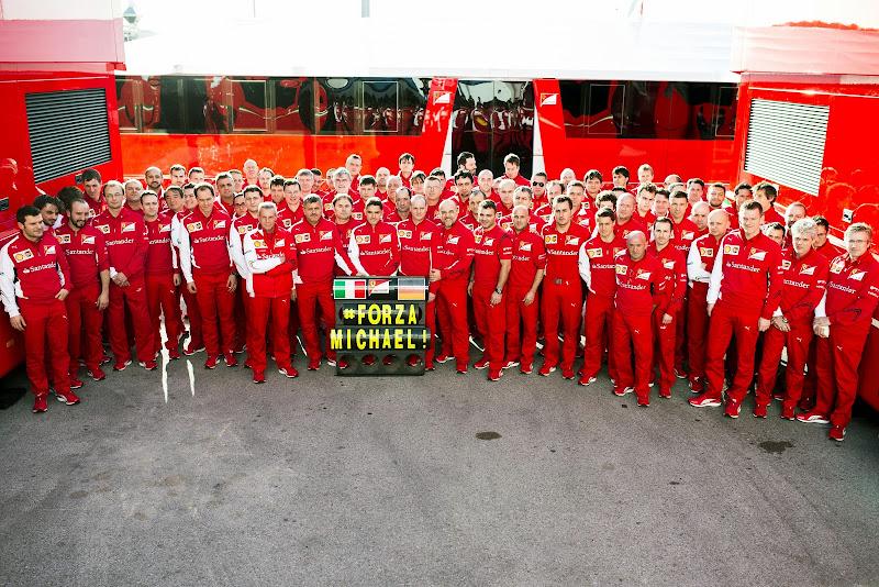 Ferrari в поддержку Михаэля Шумахера на предсезонных тестах в Хересе 27 января 2014