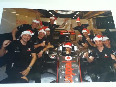 рождественская открытка Дженсона Баттона 2011