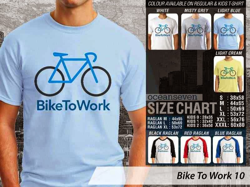 KAOS Bike To Work 10 Sepeda Lovers bicycle distro ocean seven