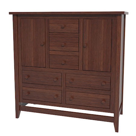 Venice Wardrobe Dresser, Chocolate Cherry