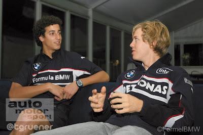 Даниэль Риккардо и Себастьян Феттель - пилоты BMW на Гран-при Китая 2006