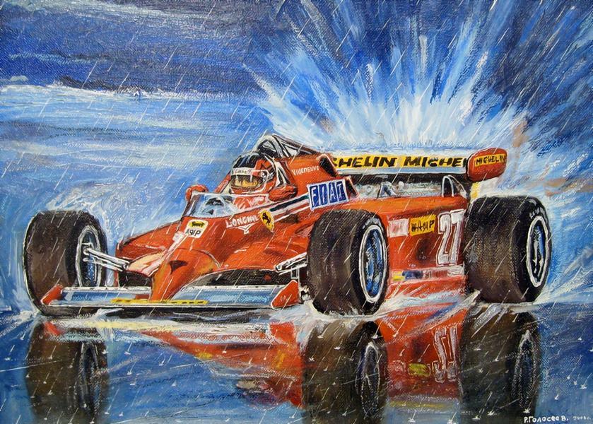 Жиль Вильнев Ferrari - картина от Roman Goloseev