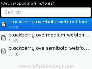 adding font in blackberry