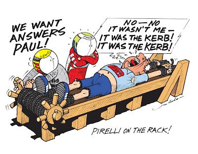 Льюис Хэмилтон и Фелипе Масса пытаются расколоть Пола Хембри - комикс Jim Bamber по Гран-при Великобритании 2013