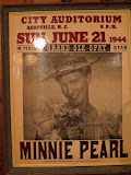 A Minnie Pearl poster from 1944, at the Station Inn