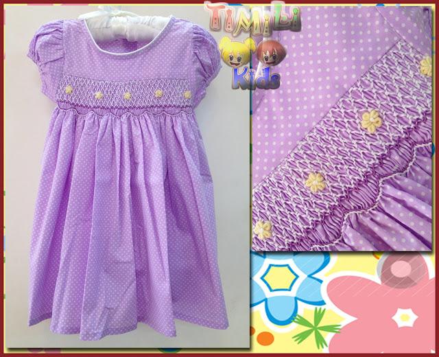 Đầm thêu tay móc xích - Smocked Dress, hàng xuất xịn, made in vietnam.