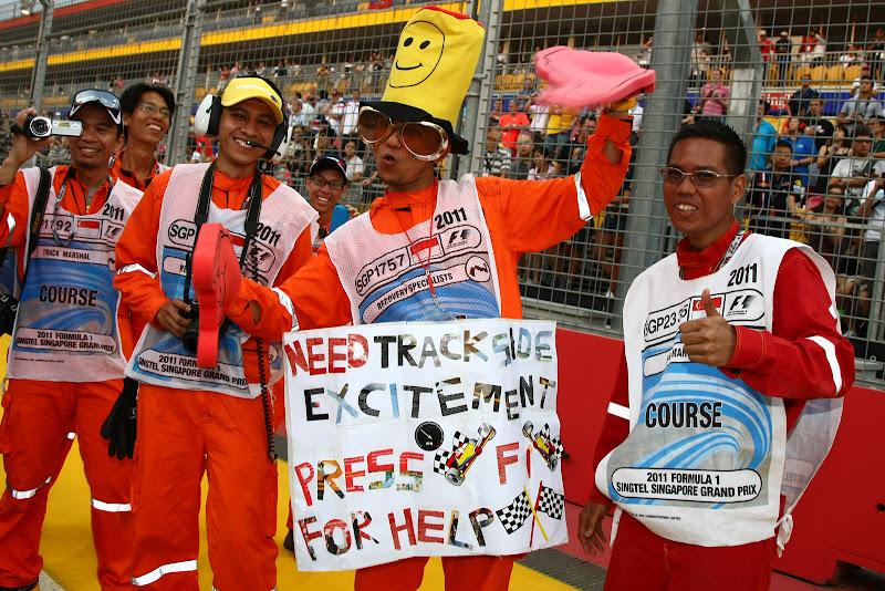 маршалы на Гран-при Сингапура 2011