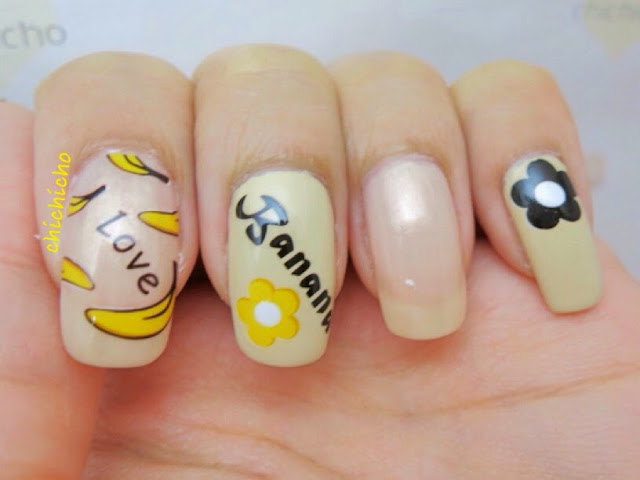 Andy Warhol Banana Nail Art