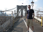I like the way that the Brooklyn Bridge looks smaller than Larry. I AM that good of a photographer.