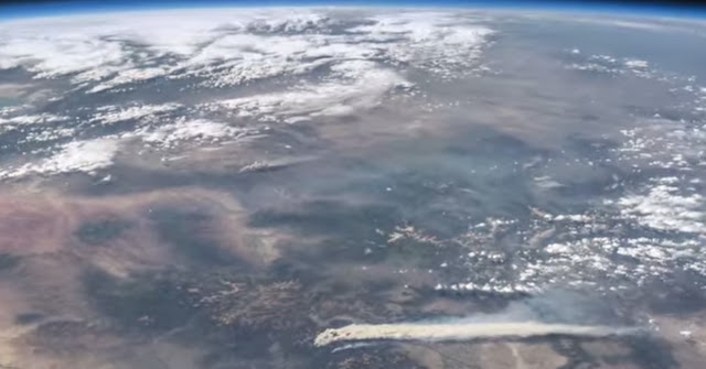 A scene from a new NASA video shows Colorado's West Fork Fire in June 2013 among other area weather and climate events. (NASA / YouTube)