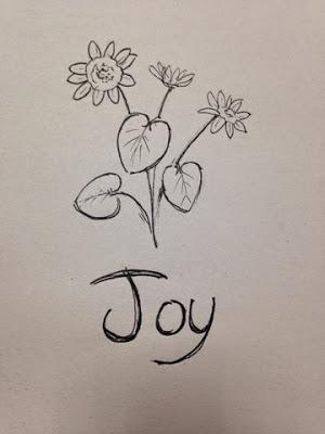 97 Hearts joy flower drawing