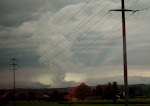 nuclear holocaust over switzerland....or a big tornado...or they just have really weird cloud formations here