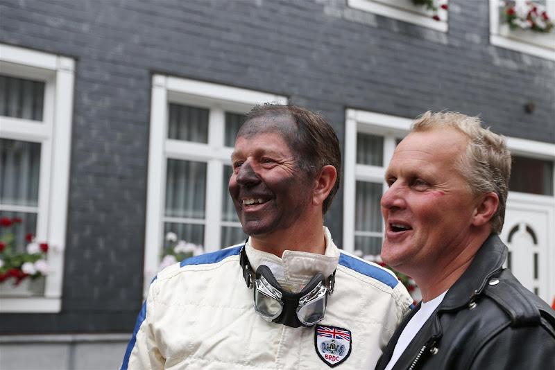 Мартин Брандл и Джонни Херберт на мероприятии Shell перед Гран-при Бельгии 2013