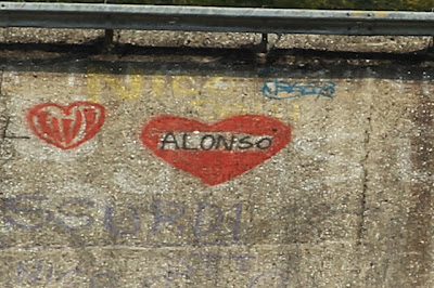 Love Alonso на старом бэнкинге Монцы на Гран-при Италии 2011