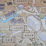 看到地圖,剛才應該走過了時雨中學和三毛菊次郎宅。