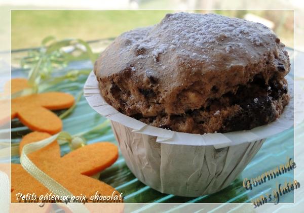 Petits gâteaux noix chocolat, sans gluten
