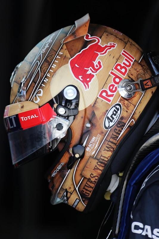 техасский шлем Себастьяна Феттеля для Гран-при США 2012
