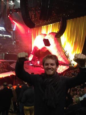 Нико Росберг на концерте Rolling Stones в Лондоне 30 ноября 2012
