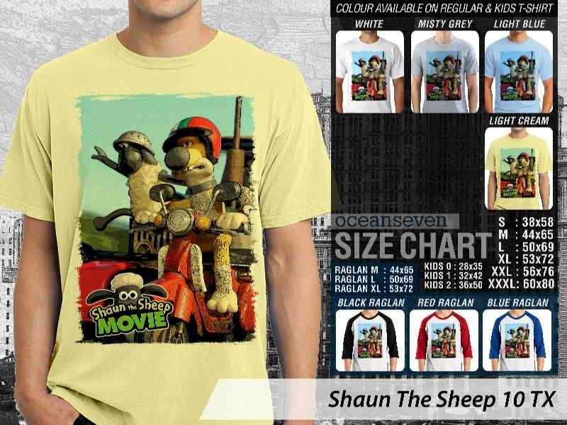 Kaos Movie Shaun The Sheep 10 distro ocean seven