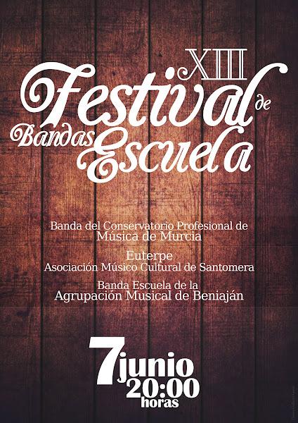 Cartel Festival Bandas Escuela