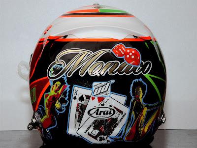 шлем Серхио Переса с картами для Гран-при Монако 2013