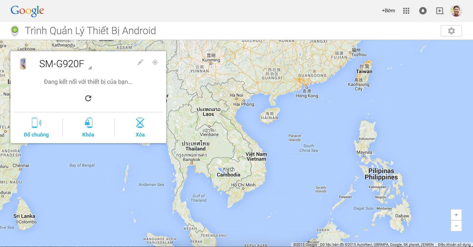 Tìm thiết bị Android bị mất bằng Google