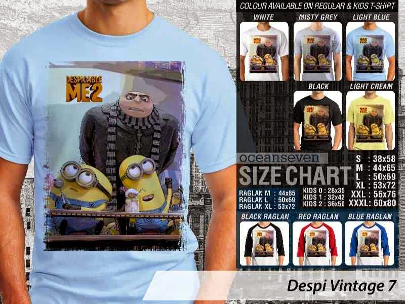 KAOS Despicable me Vintage 7 Movie Animation distro ocean seven