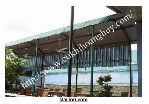 thi công mái tôn vòm tại hà nội