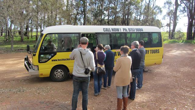 Getting on the Bushtucker bus.