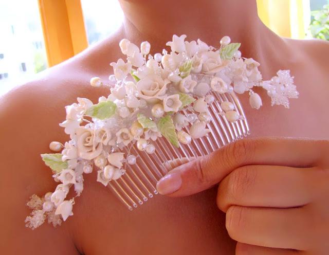 Гребень для волос с цветами своими руками