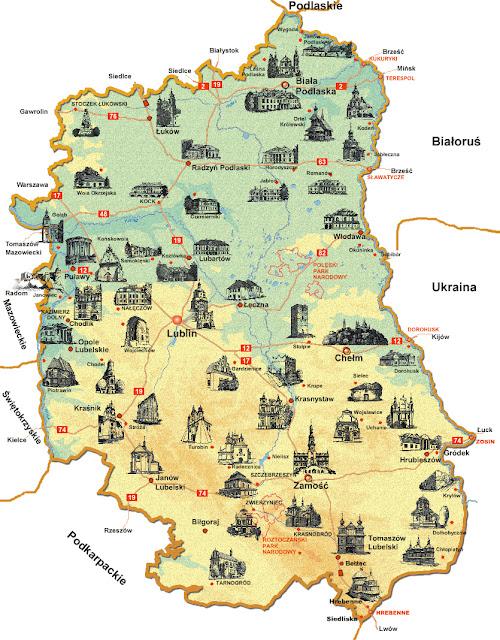 Mapa de Lublin - Todo Polonia