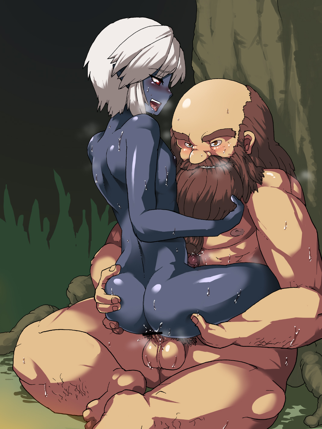 Sexy dark elves gay naked photo
