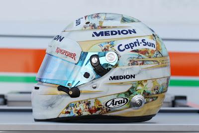 шлем Адриана Сутиля в честь его 100-ой гонки на Гран-при Венгрии 2013