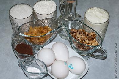 ингредиенты на торт