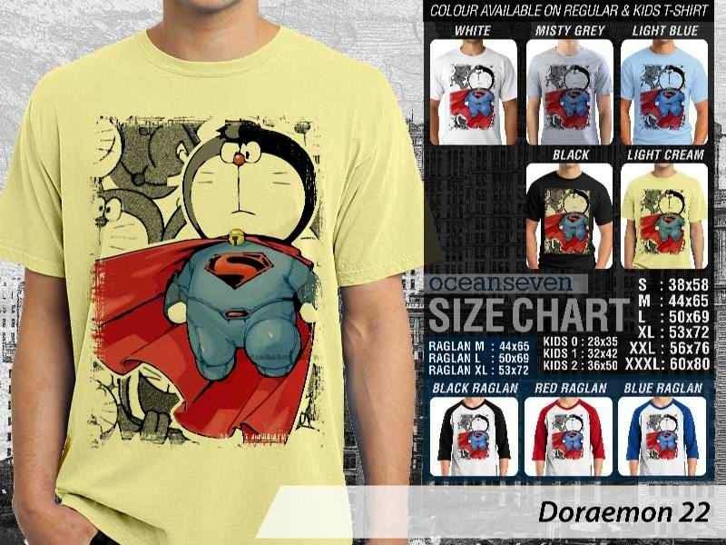 KAOS Doraemon 22 Manga Lucu distro ocean seven