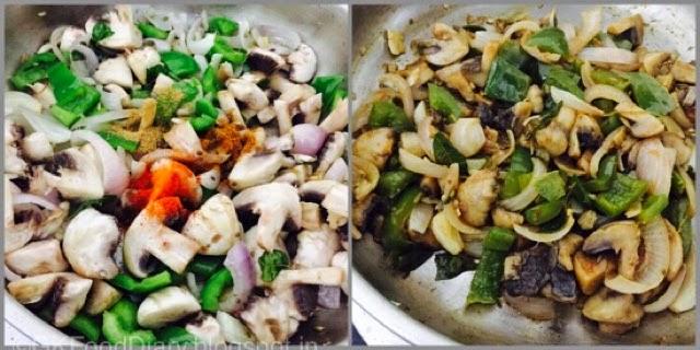 Mushroom Pepper Fry Recipe (Mushroom Recipes) - Kalan Milagu Varuval 6