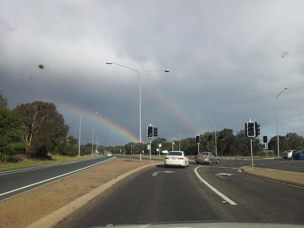 double rainbow over belconnen