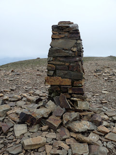 A crumbling Trig Pillar on Crag Hill. I did not notice this the last time I was there.