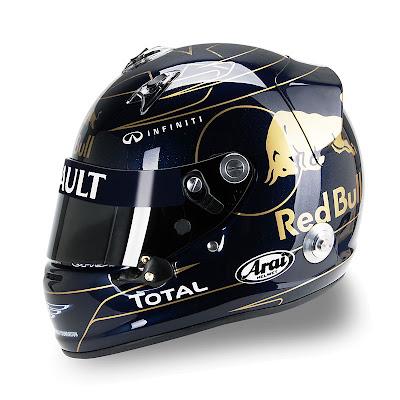 шлем Себастьяна Феттеля для Гран-при Кореи 2011 - вид сбоку