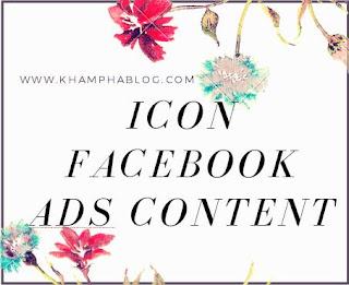 icon đẹp dùng để chạy facebook ads content