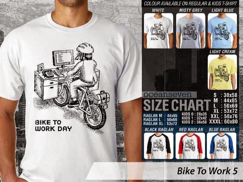 KAOS Bike To Work 5 Sepeda Lovers bicycle distro ocean seven