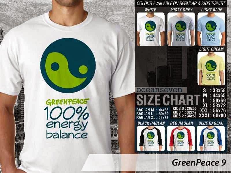 KAOS Cinta Bumi GreenPeace 9 | KAOS Selmatkan Bumi greenpeace energy balance distro ocean seven